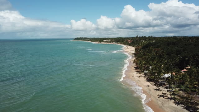 mirror beach (praia do espelho) in trancoso, bahia state, brazil - porto seguro stock videos & royalty-free footage