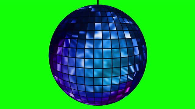 mirror disco ball on green screen 3d animation seamless loop - mirror ball stock videos & royalty-free footage