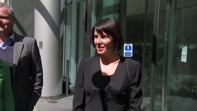 Judge awards record damages ENGLAND London Royal Courts of Justice Sadie Frost from court and speaking to press outside court SOT the whole time in...