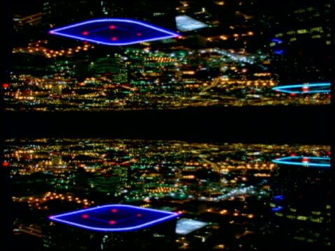 mirror imaged cityscape of the sprawling metropolis of seattle including skyscrapers of financial district - washington state stock videos and b-roll footage
