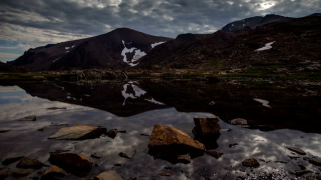 time lapse: mirror mountain lake - californian sierra nevada stock videos and b-roll footage