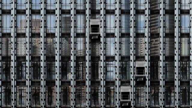 specchio grattacielo ascensore stati uniti - lobby video stock e b–roll