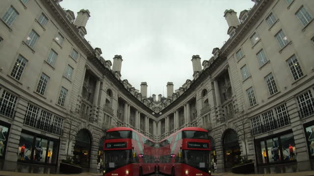 mirrored pov down london street - commercial land vehicle stock videos & royalty-free footage