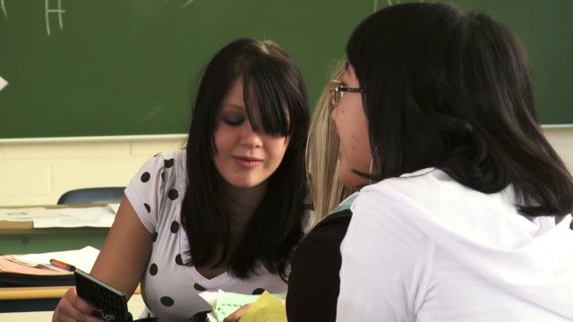 hd: misbehaving schoolgirls - gossip stock videos & royalty-free footage
