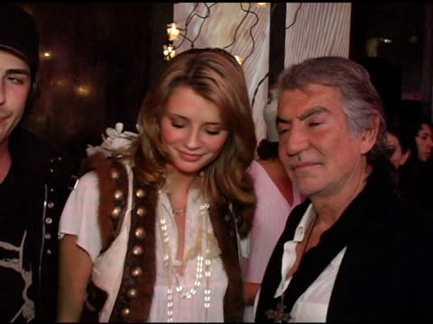 Mischa Barton and Roberto Cavalli at the Unveiling of Roberto Cavalli's Beverly Hills Location at Roberto Cavalli Boutique in Los Angeles California...