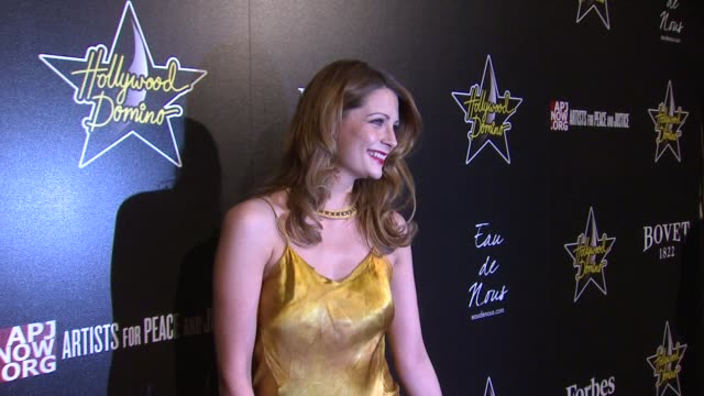 mischa barton at 5th annual hollywood domino gala presented by bovet 1822 benefitting artists for peace and justice on 02/23/12 in west hollywood, ca - mischa barton stock videos & royalty-free footage