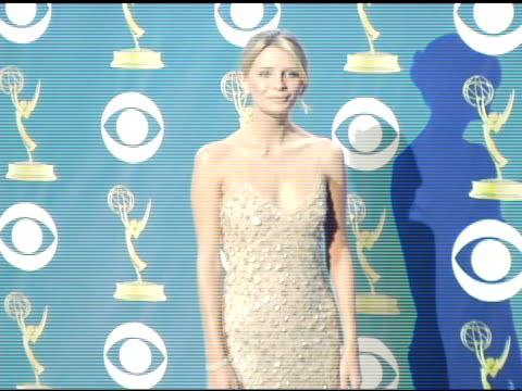 mischa barton at the 2005 emmy awards press room at the shrine auditorium in los angeles california on september 19 2005 - emmy awards stock videos & royalty-free footage