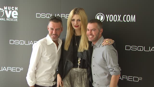mischa barton dean dan caten at the yooxcom and dsquared2 canine couture launch to benefit much love animal rescue at beverly hills ca - ミーシャ・バートン点の映像素材/bロール