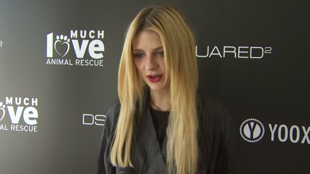 Mischa Barton on being a part of the afternoon what she thinks of DSquared2's new canine couture line her dog how she named her dog her daily routine...