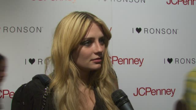 mischa barton on coming out to support the ronsons, her thoughts on the collaboration and why its important to have the support of jcpenney at the... - mischa barton stock videos & royalty-free footage