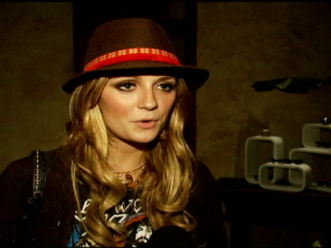 Mischa Barton on loving Coachella DKNY and being there with her little sister at the DKNY Jeans Coachella Retreat House on April 28 2007