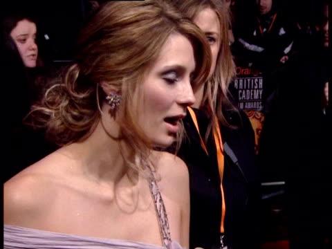 mischa barton on what bafta means at the the orange british academy film awards 2006 red carpet at london - ミーシャ・バートン点の映像素材/bロール