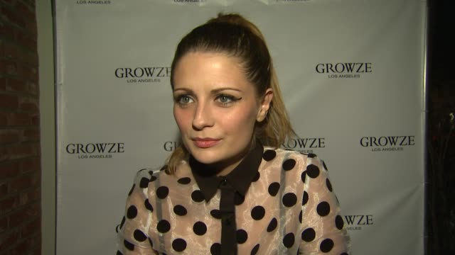 mischa barton on what we are celebrating why she is excited to have growze in los angeles what she loves about japanese fashion coming out with her... - ミーシャ・バートン点の映像素材/bロール
