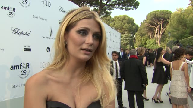 Mischa Barton on why amfAR is important at the amfAR Gala Red Carpet Arrivals 64th Cannes Film Festival at Antibes