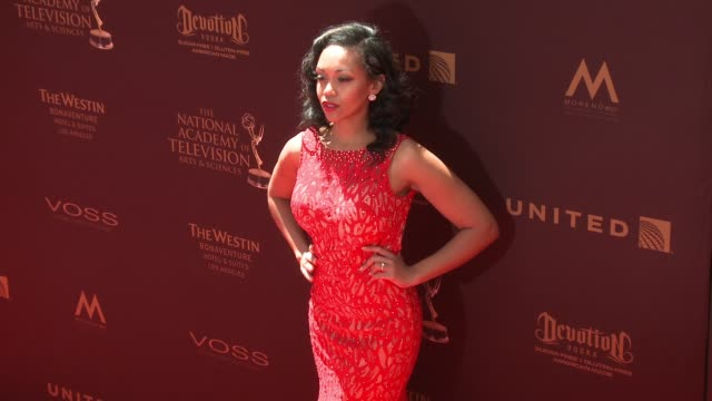 Mishael Morgan at 43rd Annual Daytime Emmy Awards at Westin Bonaventure Hotel on May 01 2016 in Los Angeles California