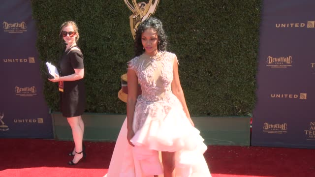 Mishael Morgan at the 44th Annual Daytime Emmy Awards at Pasadena Civic Auditorium on April 30 2017 in Pasadena California