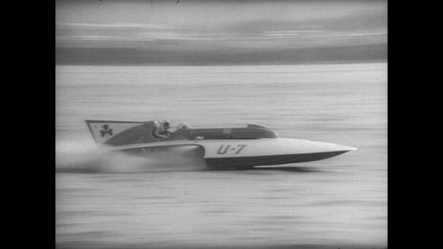 vídeos y material grabado en eventos de stock de miss barhdahl' hydroplane boat driven by ron musson explodes during the president's cup regatta on the potomac river / feet away from exploded plane... - hidroplano