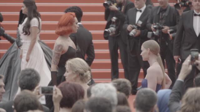 SLOMO Miss Fame at 'The BFG' red carpet at Palais des Festivals on May 14 2016 in Cannes France