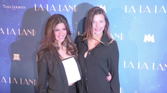 miss france 2015 camille cerf miss france 2016 iris mittenaere and miss france 2014 flora coquerel at the la la land premiere on the legendary champs... - iris plant stock videos & royalty-free footage
