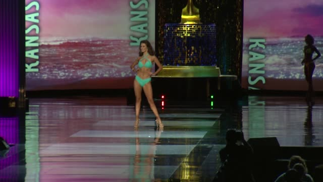miss kansas krystian fish at 2018 miss america preliminary competition footage on september 07 2017 in atlantic city new jersey - qualification round stock videos & royalty-free footage