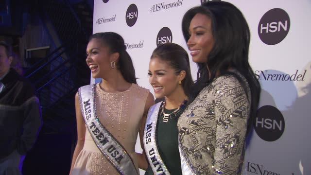 miss teen usa logan west miss universe olivia culpo and miss usa nana meriwether at hsn celebrates digital redesign at marquee on january 16 2013 in... - beauty contest stock videos & royalty-free footage