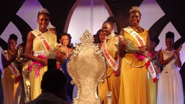 miss uganda is crowned in kampala but this years 20 finalists have been put through their paces ahead of the award ceremony attending an army... - attending stock videos and b-roll footage