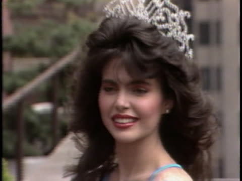 miss universe 1986 bárbara palacios beauty queen from venezuela - beauty queen stock videos and b-roll footage
