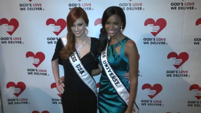 Miss USA 2011 Alyssa Campanella and Miss Universe 2011 Leila Lopes at the 2011 Golden Heart Awards Celebration in New York 10/19/11
