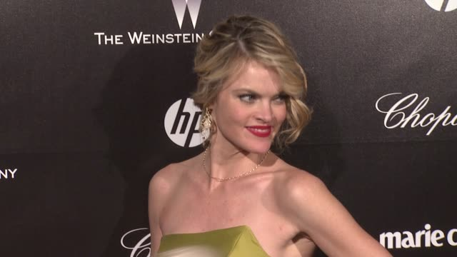 vídeos de stock, filmes e b-roll de missi pyle at the weinstein company golden globe afterparty at the beverly hilton hotel on 1/15/12 in los angeles ca - missi pyle
