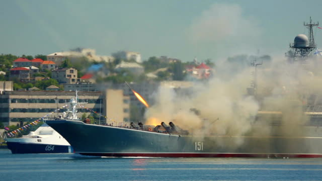 missile attack warship - russian culture stock videos & royalty-free footage