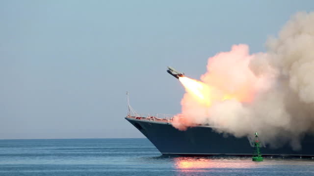 missile attack warship - weaponry stock videos & royalty-free footage