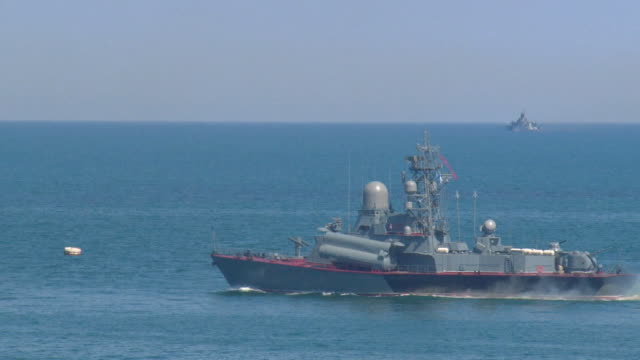 missile boat in the military maneuvers