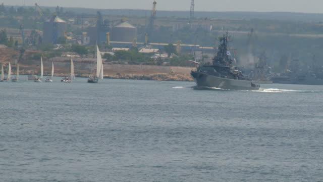 missile cruiser - sevastopol crimea stock videos and b-roll footage
