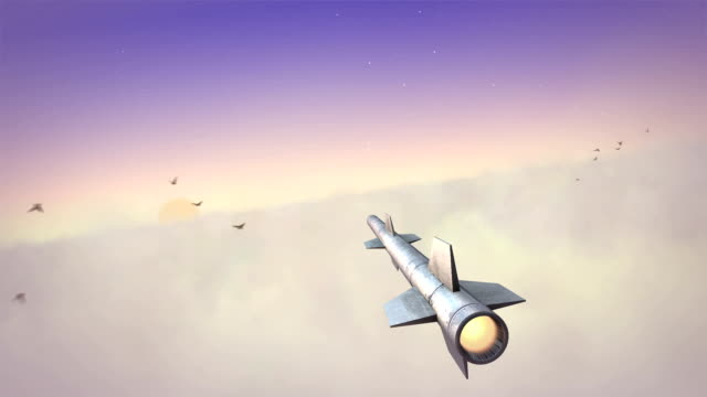 Missile in the sky