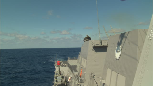 ms, tu, missile launches off military ship - missile stock videos & royalty-free footage