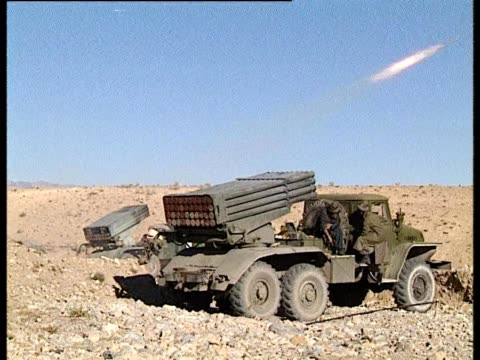 missiles fired from rocket launcher - bbc stock videos & royalty-free footage