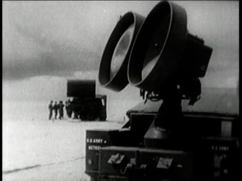 missiles on beach / radar on beach / tank moving missiles / soldier directing tank - radar stock videos and b-roll footage