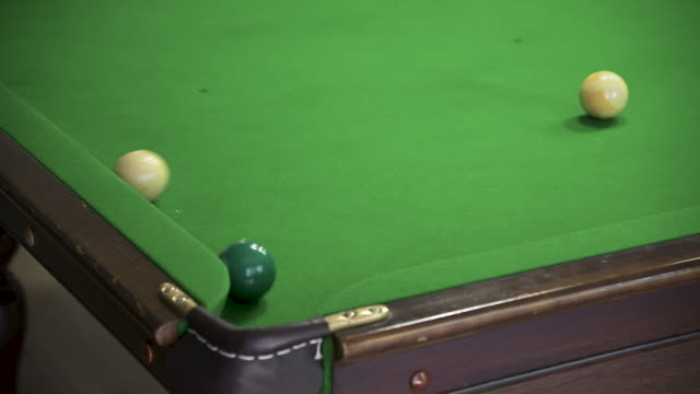 missing a corner pocket shot on a pool table - pocket stock videos & royalty-free footage