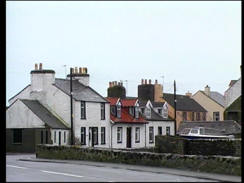 isle of whithorn sign 'isle of whithorn' pan village harbour houses of village john king interview sot no explanation for this boat vanishing air... - solway harvester stock videos and b-roll footage