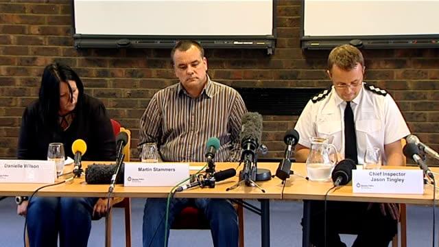 vídeos y material grabado en eventos de stock de parents appeal east sussex lewes photography** chief inspector jason tingley press conference sot - east sussex