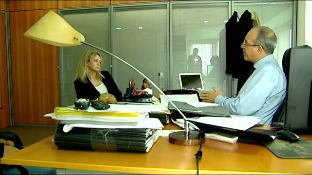 hotel worker suspect location unknown rogerio alves setup shots with reporter / interview sot - madeleine mccann video stock e b–roll