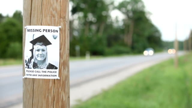 missing person poster - pole stock videos and b-roll footage