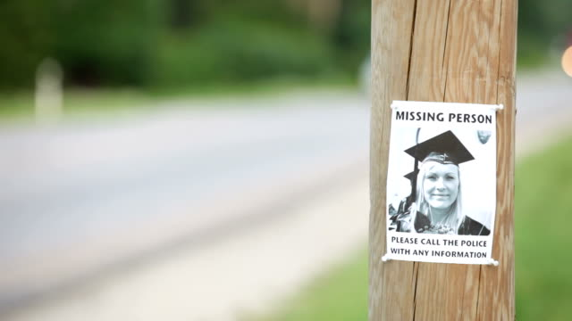 missing person - pole stock videos and b-roll footage