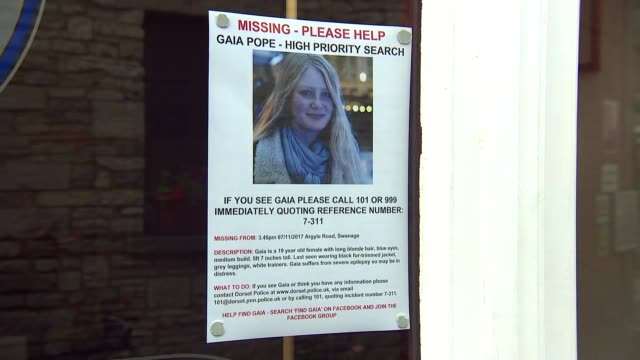 man arrested on suspicion of murder england dorset ext police 'missing person' notice in shop widow appealing for information about missing 19yearold... - missing persons stock videos & royalty-free footage
