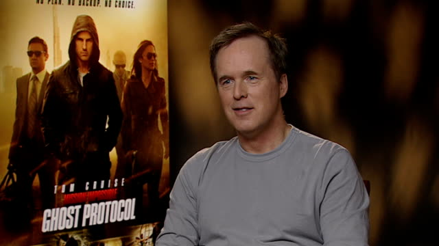 'mission impossible ghost protocol' simon pegg interview brad bird interview sot been a tom cruise fan for a long time golden opportunity / didn't... - the girl with the dragon tattoo stock videos and b-roll footage