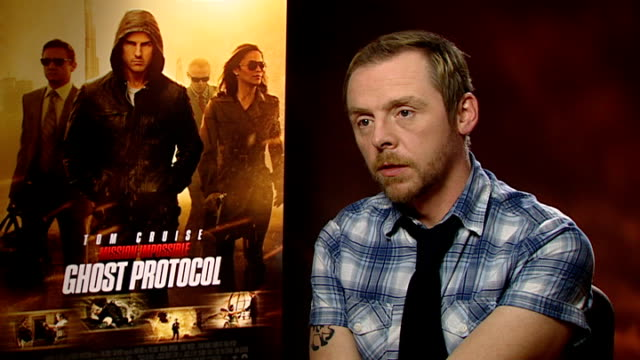 'mission impossible ghost protocol' simon pegg interview england london int simon pegg interview sot never thought my career would lead me here /... - simon pegg stock videos & royalty-free footage