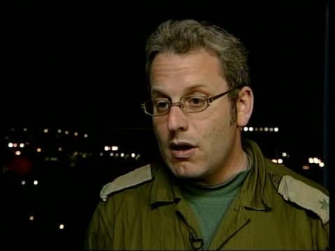 UN mission to Jenin announced Palestinians amidst rubble on street AT NIGHT Laderman interview SOT Most of the devastation was caused by explosives...