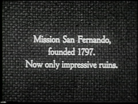 missions of california - 13 of 16 - missions of california film title stock videos & royalty-free footage