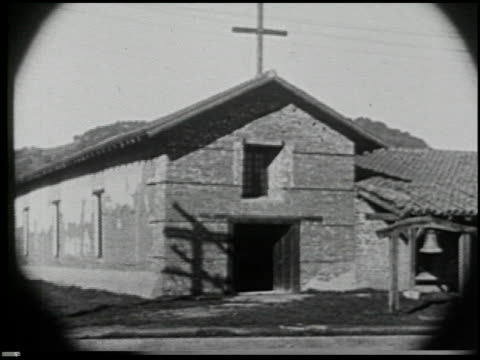 missions of california - 16 of 16 - missions of california film title stock videos & royalty-free footage