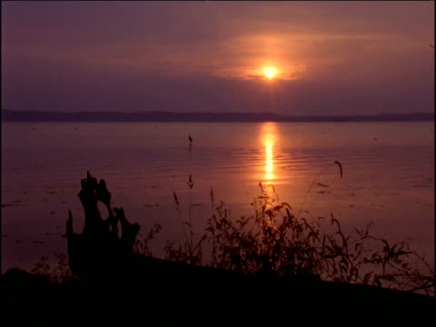 mississippi river at sunset, illinois - mississippi river stock videos & royalty-free footage